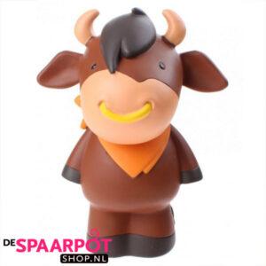 Miss B Spaarpot Stier bruin - 23 cm