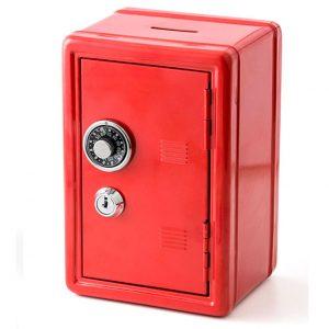 Metalen spaarpot bankkluis (Rood)