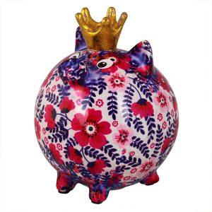Pomme Pidou Varken Betty - Wit met bloemen spaarpot