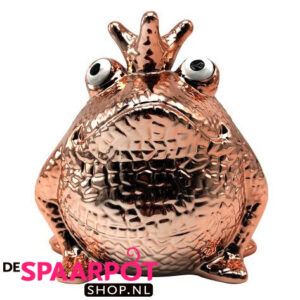 Pomme Pidou King Frog Glamourous Freddy Messing Spaarpot