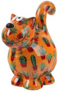 Pomme Pidou Kat Dorothy spaarpot - Oranje met cactus
