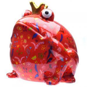 Pomme Pidou Giant Freddy XXXL spaarpot - Rood met bloemen
