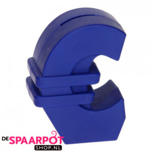 Euro teken spaarpot (blauw)