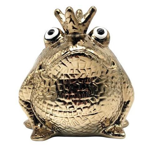 Pomme Pidou King Frog Glamourous Freddy Goud Spaarpot