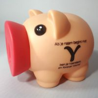 Spaarvarken - Als je naam begint met Y