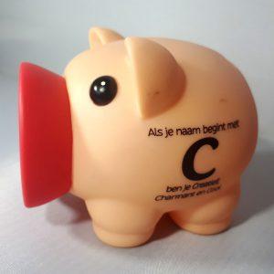 Spaarvarken - Als je naam begint met C
