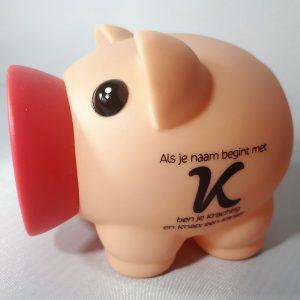 Spaarvarken - Als je naam begint met K