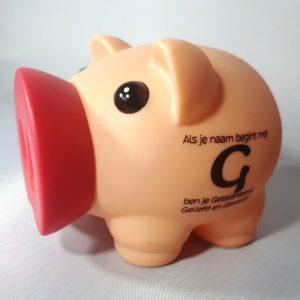 Spaarvarken - Als je naam begint met G