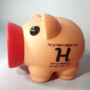 Spaarvarken - Als je naam begint met H