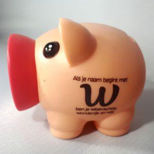 Spaarvarken – Als je naam begint met W