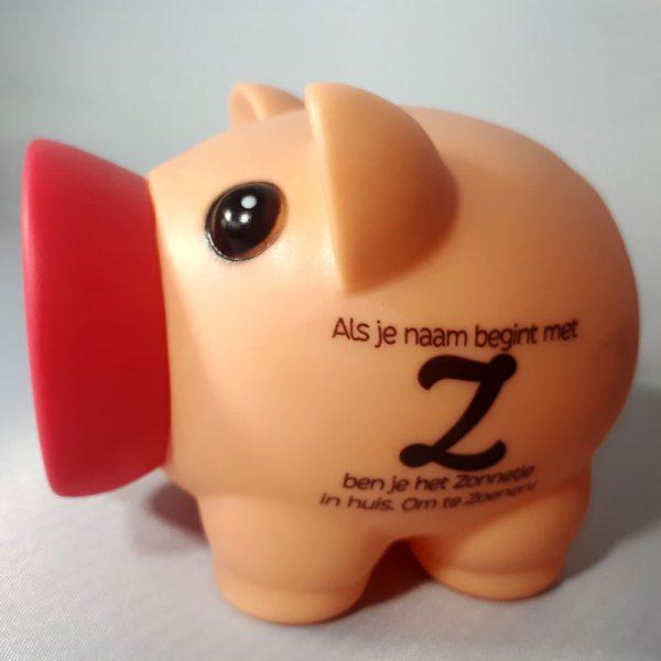 Spaarvarken - Als je naam begint met Z
