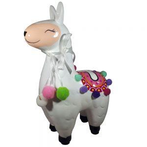 Lama spaarpot (wit) 21cm
