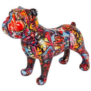 Pomme Pidou Engelse Bulldog Max Spaarpot - Graffiti London