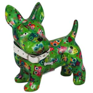 Pomme Pidou Hond Boomer Spaarpot - Groen met uilen