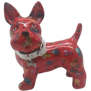 Pomme Pidou Hond Boomer Spaarpot - Rood met autootjes