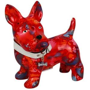 Pomme Pidou Hond Boomer Spaarpot - Rood met monstertjes