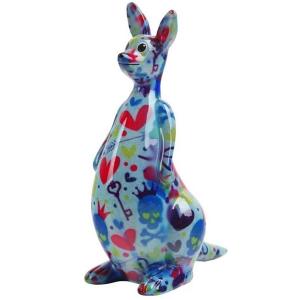 Pomme Pidou Kangaroo Lucy Spaarpot – Blauw met doodshoofden