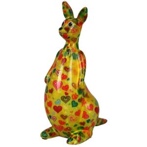 Pomme Pidou Kangaroo Lucy Spaarpot – Geel met hartjes