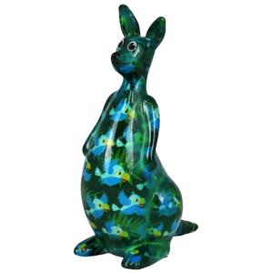 Pomme Pidou Kangaroo Lucy Spaarpot – Groen met vogels