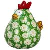 Pomme Pidou Kip Matilda Spaarpot XL - Groen met witte bloemen