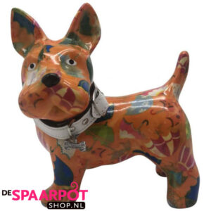 Pomme Pidou Hond Boomer Spaarpot - Oranje met paraplu's