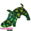 Pomme Pidou Hond Elvis Spaarpot - Donker groen met papegaaien