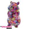 Pomme Pidou Hamster Finn Spaarpot - Paars met bloemen