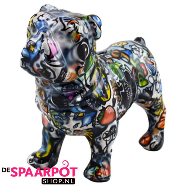 Pomme Pidou Engelse Bulldog Max Spaarpot - Graffiti Melbourne