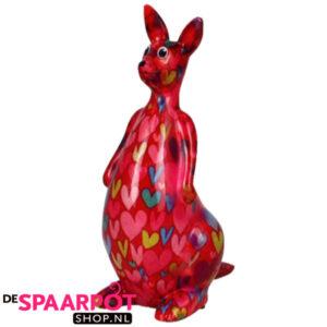 Pomme Pidou Kangaroo Lucy Spaarpot – Rood met hartjes