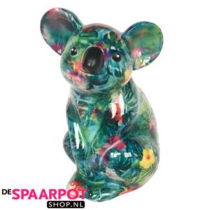 Pomme Pidou Koala Claire Spaarpot - Groen met bladeren