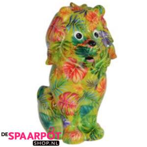 Pomme Pidou Leeuw Leo Spaarpot – Groen met bladeren