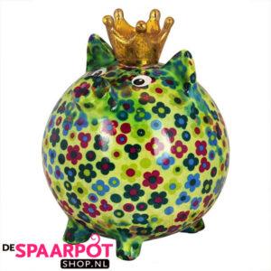 Pomme Pidou Varken Betty Spaarpot L - Groen met bloemen