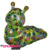Pomme Pidou Rups Gigi Spaarpot - Groen met bloemen