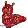 Pomme Pidou Rups Gigi Spaarpot - Rood met lieveheersbeestjes