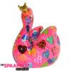 Pomme Pidou Zwaan Grace Spaarpot - Fel roze met hartjes
