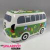 Hippie busje spaarpot met versiering (Groen)