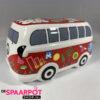 Hippie busje spaarpot met versiering (Rood)