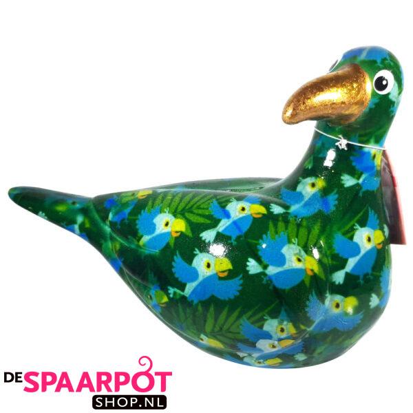 Pomme Pidou Zeemeeuw Simon Spaarpot - Groen met vogels