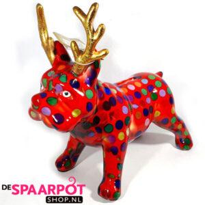 Pomme Pidou Bulldog Rudolph - (Rood met stippen)