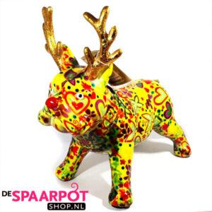 Pomme Pidou Bulldog Rudolph - (Geel met hartjes)